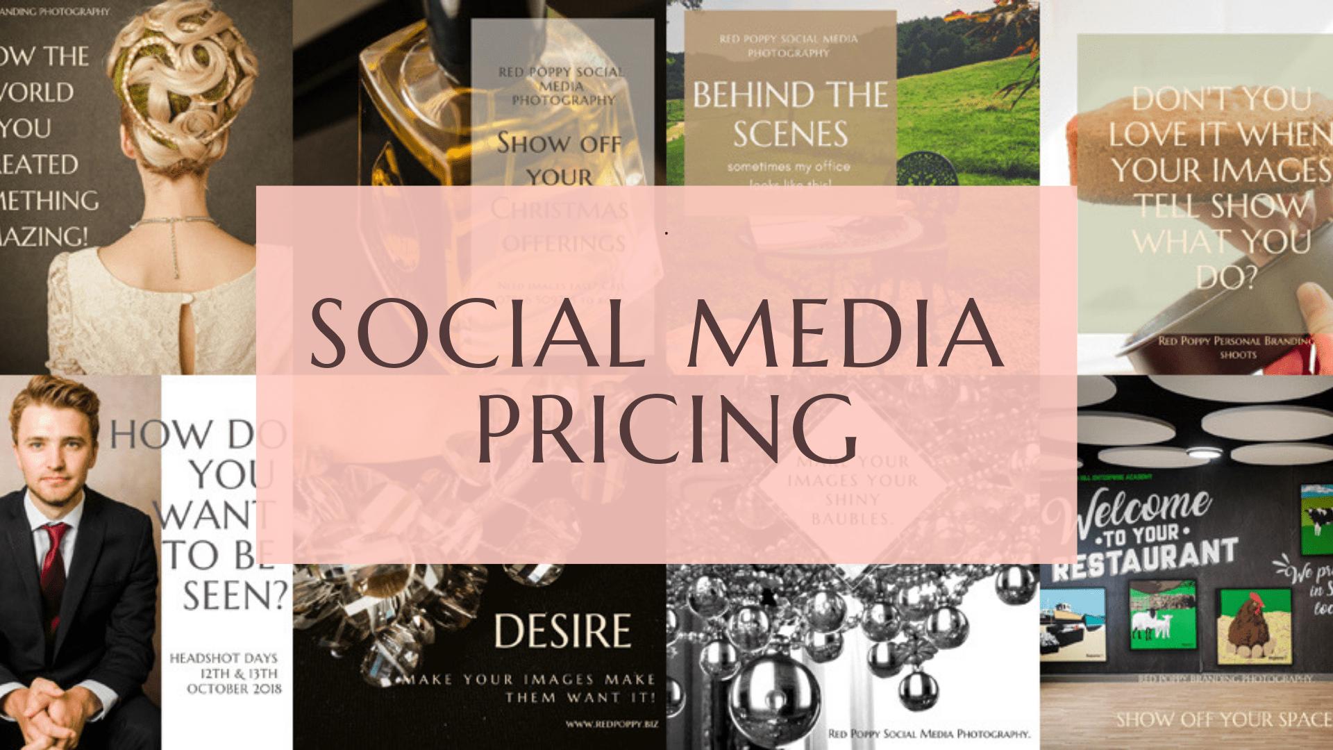 Social Media pricing - Red Poppy Photography - Branding